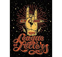 League of Letters Photographic Print