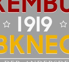 Luxemburg - Liebknecht 1919 Sticker