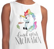 Tubby Unicorn finds motivation Contrast Tank