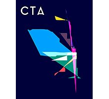 Abstract CTA Train Lines Photographic Print