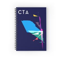 Abstract CTA Train Lines Spiral Notebook