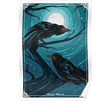 Hugin and Munin - Ravens of Odin Poster