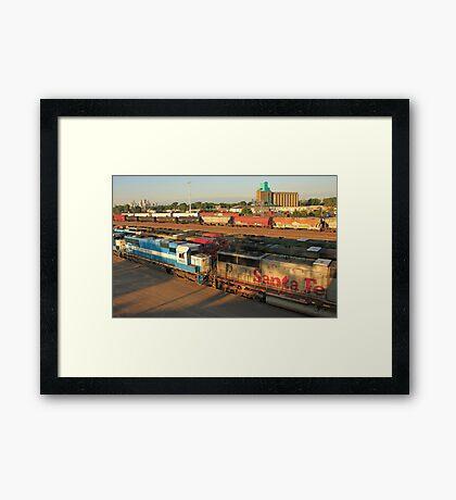 Railroad Yard Framed Print