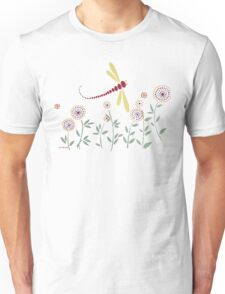 DRAGONFLY RED GOLD GARDEN PARTY Unisex T-Shirt