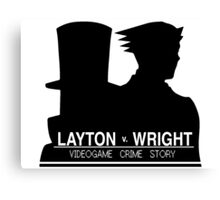 Videogame Crime Story Canvas Print