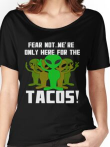 Tacos and Aliens  Women's Relaxed Fit T-Shirt
