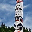 Bear Mother Pole - Old Massett by Yukondick