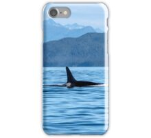 Young male Orca in the Lynn Canal, Southeast Alaska iPhone Case/Skin