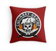 Skull Chef 2: Culinary Genius 2 Throw Pillow