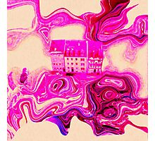 Pink house Photographic Print