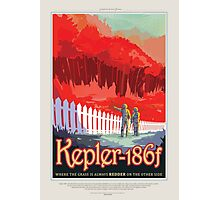 Kepler 186-f Where the Grass is Always Redder Photographic Print