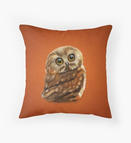 The Owls Eyes Throw Pillow