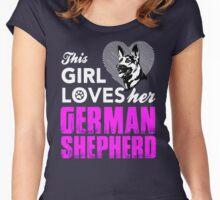 German Shepherd Women's Fitted Scoop T-Shirt