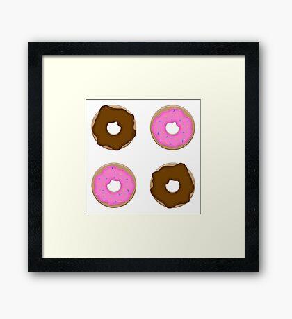 I Just Donut Care Framed Print