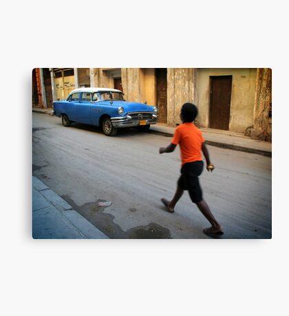 Street scene in Old Havana, Cuba Canvas Print