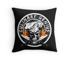 Skull Chef 3: Culinary Genius 2 Throw Pillow