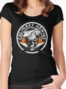 Skull Chef 3: Culinary Genius 2 Women's Fitted Scoop T-Shirt