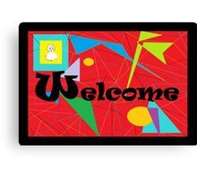 American Sign Language WELCOME Canvas Print