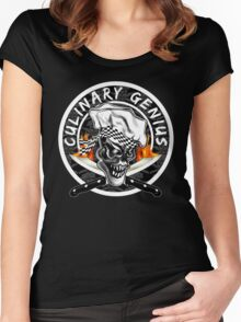 Skull Chef 5: Culinary Genius 2 Women's Fitted Scoop T-Shirt