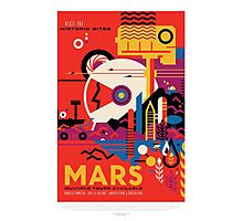 Mars - Visit the Historic Sites Photographic Print
