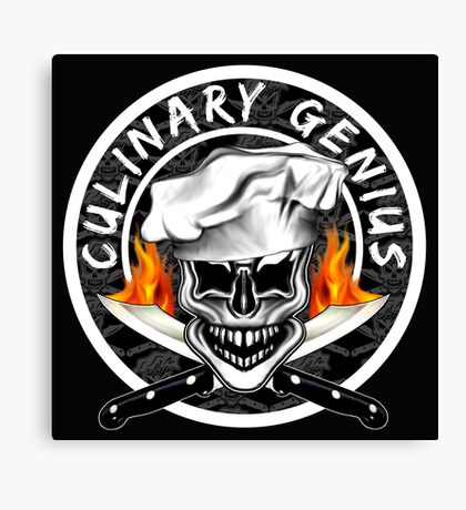 Skull Chef 6: Culinary Genius 2 Canvas Print