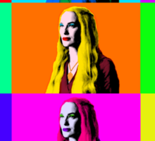 Mozart and Marie Game of Thrones Cersei Warhol Series Sticker