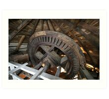 Cley Windmill machinery Art Print