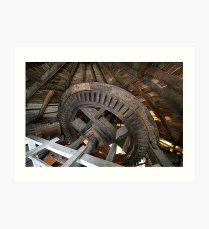 Cley Windmill machinery Art Print