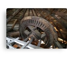 Cley Windmill machinery Canvas Print