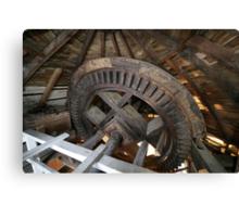Cley Windmill machinery Canvas Print