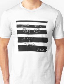 B&W Face  Unisex T-Shirt