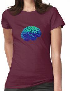 Green Brain Womens Fitted T-Shirt