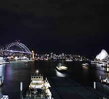 Sydney Harbour by night by Bargmann
