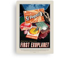 51 Pegasi b - Greeting From Your First Exoplanet Canvas Print