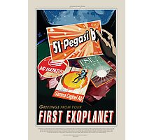 51 Pegasi b - Greeting From Your First Exoplanet Photographic Print