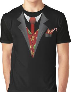Christmas Tuxedo Graphic T-Shirt