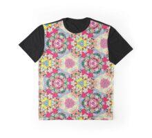 Rose Kaleidoscope Pattern - White Background Graphic T-Shirt
