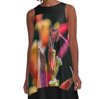 Vibrant Dragonfly A-Line Dress