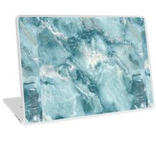MARBLE - BLUE [iPhone case] Laptop Skin