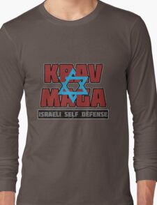 Israeli Krav Maga Magen David Long Sleeve T-Shirt
