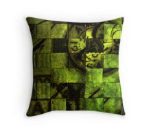 Green Glow Throw Pillow