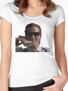 Patrick Bateman on Phone (American Psycho) Women's Fitted Scoop T-Shirt