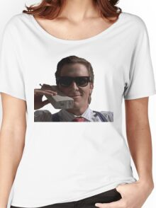 Patrick Bateman on Phone (American Psycho) Women's Relaxed Fit T-Shirt