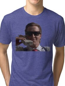 Patrick Bateman on Phone (American Psycho) Tri-blend T-Shirt