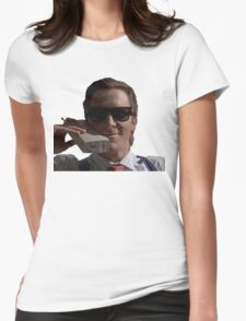 Patrick Bateman on Phone (American Psycho) Womens Fitted T-Shirt
