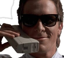 Patrick Bateman on Phone (American Psycho) Sticker