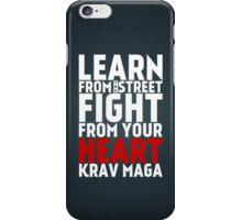 Learn from the street Krav Maga RED iPhone Case/Skin