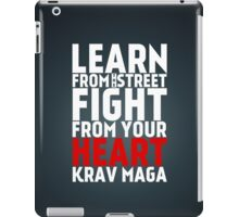 Learn from the street Krav Maga RED iPad Case/Skin