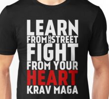 Learn from the street Krav Maga RED Unisex T-Shirt