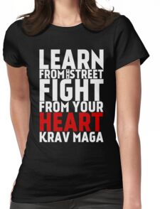 Learn from the street Krav Maga RED Womens Fitted T-Shirt